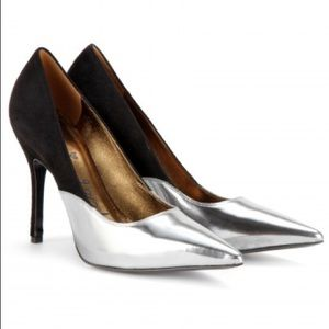 Lanvin Shoes - Lanvin suede & metallic leather pumps - size 39.5