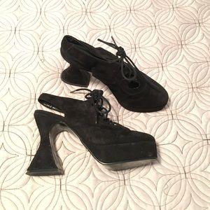 Wild Pair Shoes - Suede vintage platforms Wild Pair