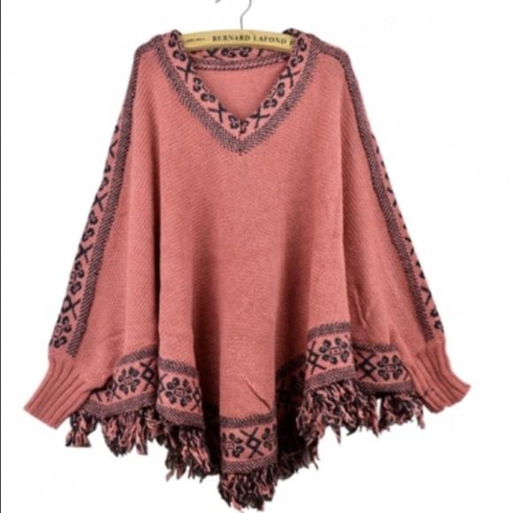 Sweaters Nwotbatwing Sleeves Poncho Knit Sweater Poshmark