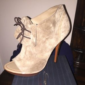 Santoni Shoes - Cute suede booties for the Fall! Never worn!
