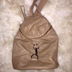 Handbags - Tan leather backpack