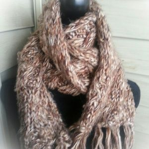 Soft Scarf, light brown  colors