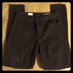 Black GAP High Rise Skinny Jeans