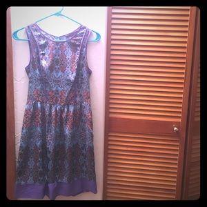 Jewel tone dress with POCKETS!!
