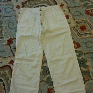 Men's Gap  white linen/cotton pants size L