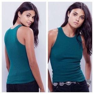 Free People Tops - NEW!  Free People 'Come as you are' ribbed tank