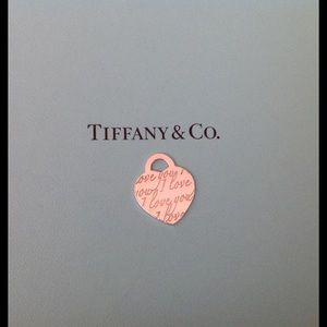 Tiffany & Co. Jewelry - Tiffany & Co. I love you Pendant