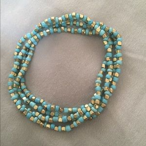 Jewelry - Turquoise and Gold Bracelet Stack