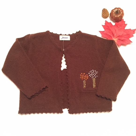 56% off Jacadi Other - NWT Jacadi Brown Cardigan Sz 2T Girls from ...