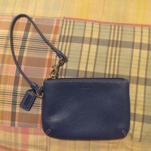 Coach blue leatherware wristlet