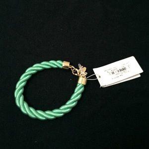 NWT Kate Spade Green Rope Bracelet