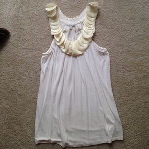 Charlotte Russe tank with ruffles