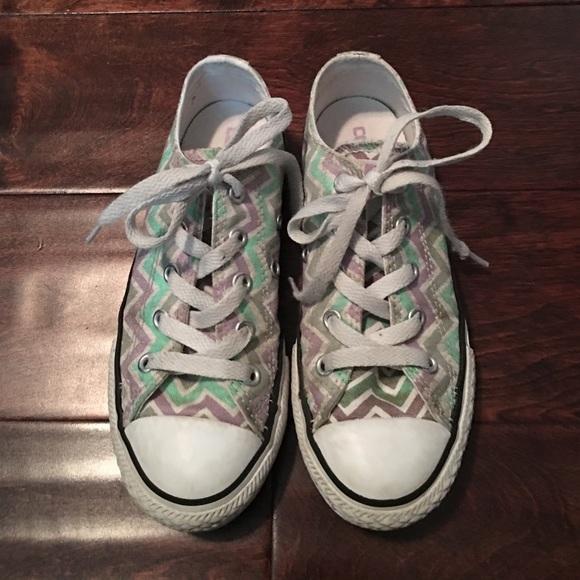 1f59143cebab Converse Other - Girls pastel color chevron stripe converse