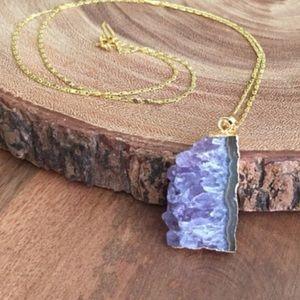 Function & Fringe Jewelry - 3 left! Amethyst Pendant Necklace