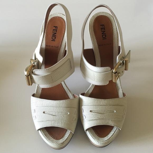 Fendi Shoes | White Heels | Poshmark