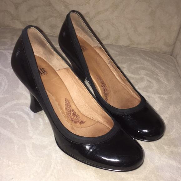 Nwot Sofft Black Patent Leather Heels