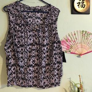 Black&white pattern top