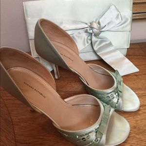 Banana Republic Shoes - BR silk satin clutch & shoes