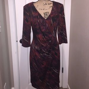 Connected Apparel Dresses & Skirts - NWOT Connected Apparel dress awesome FALL colors!