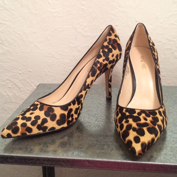 Nine West Martina Pointed Toe Pumps leopard print.  M 57b8f81fbcd4a7a4c900b513