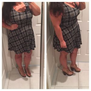"The ""clueless"" plaid skater dress"