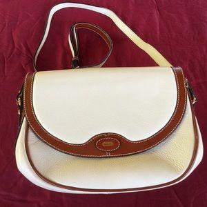 Bally Handbags - Vintage 80s Bally Cream & Brown Leather Crossbody