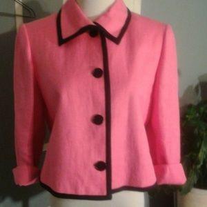 Lauren Ralph Lauren Jackets & Blazers - Ralph Lauren cropped hot pink jacket/blazer