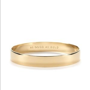 Kate spade 'as good as gold' 12k bracelet bangle