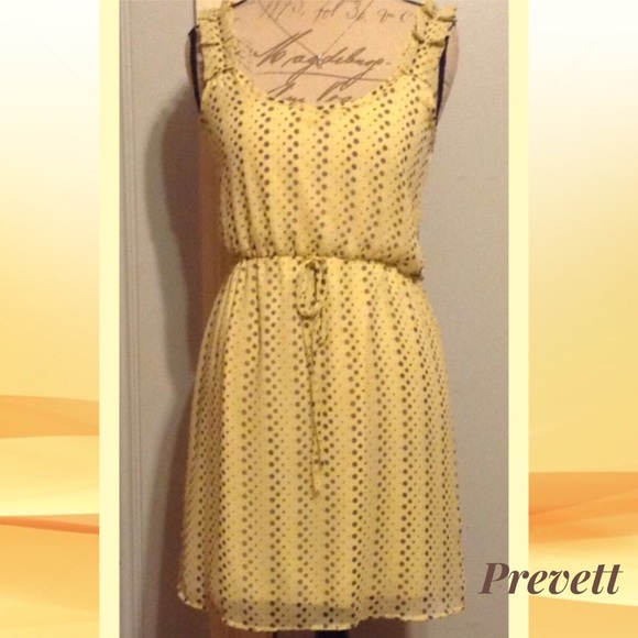 207e8af157 PREVETT Daffodil Yellow Polka Dot Sundress