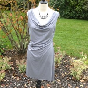 Three Dots Dresses & Skirts - Gray cowl neck sleeveless dress