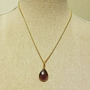 Jewelry - Genuine Amethyst  stone necklace