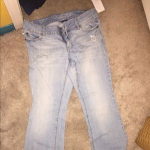 Light wash stretch American Eagle jeans