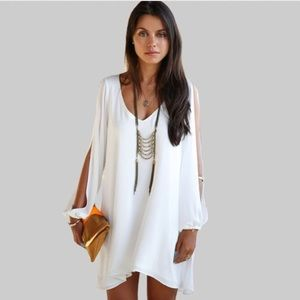 Dresses & Skirts - Chiffon VNeck Sleeveless Causal Dresses