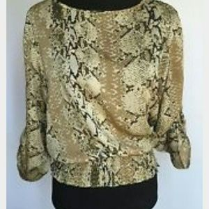 Michael Kors Tops - Flash sale!!! Micahel kors snakeskin blouse