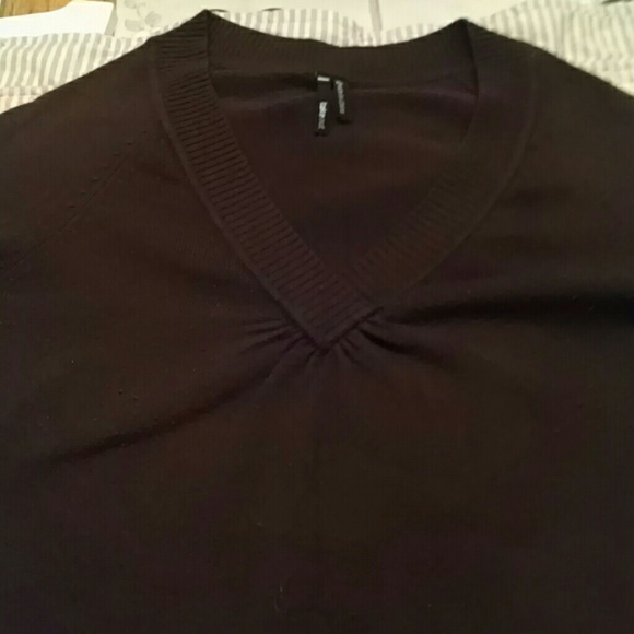 79% off Take Out Sweaters - Chocolate brown v neck sweater from ...
