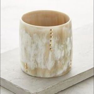 Anthropologie Jewelry - Anthropologie Studded horn cuff marble bangle