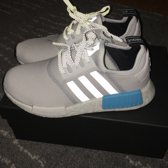 Adidas NMD runner in white/gray/cyan