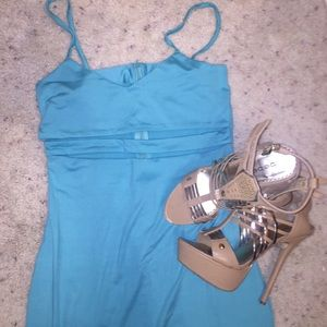 Dresses & Skirts - Sexy sea green cut out dress