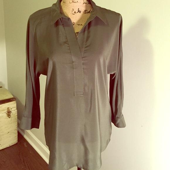 ccb99a4289d6c6 Ann Taylor Tops   Olive Green Silk Blouse   Poshmark
