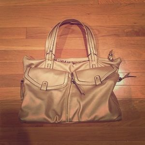 Big Buddha gold shoulder bag