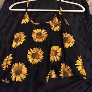 Stella Jean Tops - Sunflower crop top.