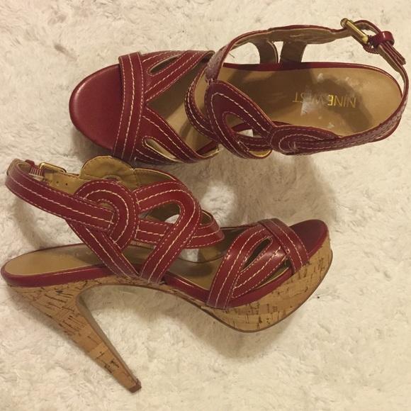60de182ff50d Very stylish red sandals. Nine West. M 57b931ea13302a47500141a1.  M 57b931ec522b45eeb7013ea5. M 57b931efa88e7d4a5c014230