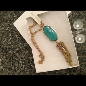 Kendra Scott Green Rayne Necklace