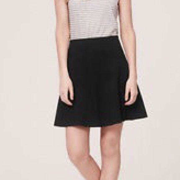 228a8348b29 LOFT Dresses   Skirts - Never worn black scuba ponte flare skirt by Loft