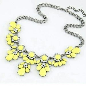 New yellow neon color necklace
