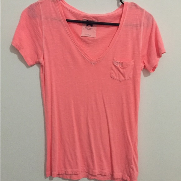 60% off Gilly Hicks Tops - Gilly Hicks salmon pink t-shirt from ...