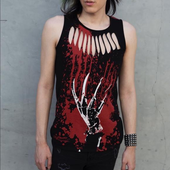 Freddy Kreuger Bloody Sleeveless Shirt Tank Top S