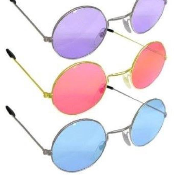 57a742210fe Lennon hippie round sunglasses in festival pastel