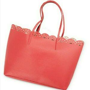 Macy's Handbags - Macy's Coral Tote