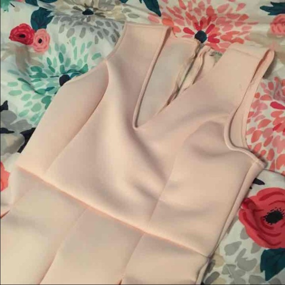 Charlotte Russe Dresses - M Baby Pink Scuba Pleated Dress